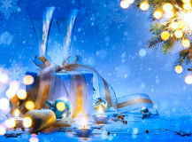 Art Christmas and New Year party Royalty Free Stock Photography