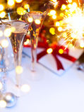 Art Christmas or new years party Stock Photography