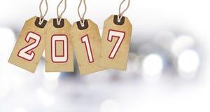 Art Christmas, Nieuwjaar 2017 decoratie Royalty-vrije Stock Foto