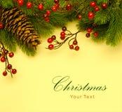 Art Christmas retro hälsningkort Royaltyfri Bild