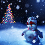 Art christmas snowman Royalty Free Stock Photos