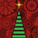 Art christmas tree Stock Photos