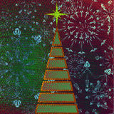 Art christmas tree stock illustration