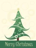 Art christmas tree card Stock Photos