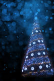 Art Christmas tree light background Royalty Free Stock Photo