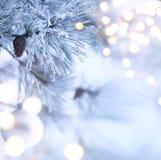 Art christmas tree light Royalty Free Stock Photography
