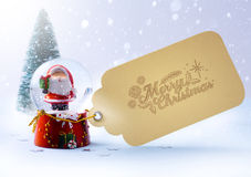 Art  Christmas tree and Santa Claus Royalty Free Stock Photo