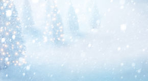 Art christmas tree on snow background Royalty Free Stock Photos