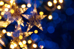 Art Christmas trees light Royalty Free Stock Photo