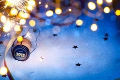 Art Christmas und Partei des neuen Jahres 2015 Lizenzfreie Stockbilder