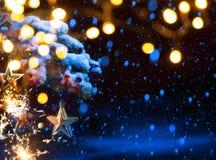 Art Christmas-vakantieachtergrond Stock Fotografie