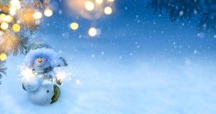 Art Christmas-vakantieachtergrond Royalty-vrije Stock Afbeeldingen