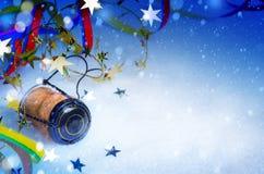 Art Christmas y fondo del partido del Año Nuevo Imagenes de archivo