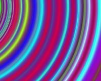 art circles concentric generative green neon red απεικόνιση αποθεμάτων