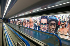 Art circuit of the Naples metro, underground passage from Toledo station at the Spanish Quarter. Stock Images
