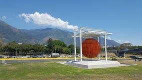 Art in city Caracas sphere of Jesus Soto Stock Image