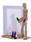 Art Class. Mannie takes an art class but can only use crayons Royalty Free Stock Images