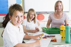 art class schoolchildren teacher their Στοκ φωτογραφίες με δικαίωμα ελεύθερης χρήσης