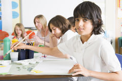 art class schoolchildren teacher their Στοκ φωτογραφία με δικαίωμα ελεύθερης χρήσης