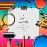 Art class template, creativity concept Stock Image
