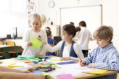Art classes develop creativity stock photo