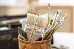 Art classes, painting workshop Royalty Free Stock Photo