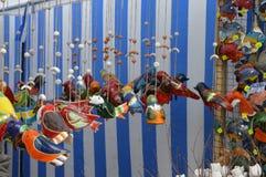Art. Clay birds. royalty free stock photo