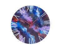 Art clock with a dial space. Royalty Free Stock Photography