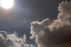 The Art Cloud Sky by The Sun Stock Photo