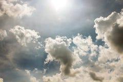 The Art Cloud Sky by The Sun Stock Photos