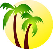 Art coconut tree Royalty Free Stock Images