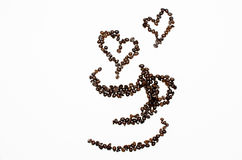 Art of Coffee Beans. Sorting to cup of coffee beans royalty free stock photos