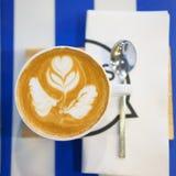 Art coffee .Cappuccino Coffee Royalty Free Stock Image