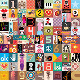 Art Collage. Of many different images. Vector illustration Royalty Free Stock Images
