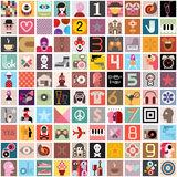 Art Collage. Of one hundred diversity images. Vector illustration. Can be used as seamless background vector illustration