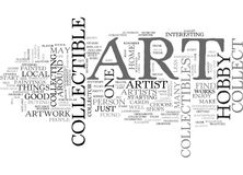 Art Collectible Hobby Word Cloud illustration stock