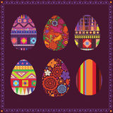 Art collection of easter eggs Stock Images