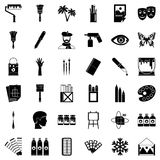 Art college icons set, simple style. Art college icons set. Simple set of 36 art college vector icons for web isolated on white background Stock Image
