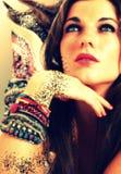 Art coloré de bracelet de femme Image libre de droits