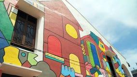 Art coloré de rue dans Melaka Photos stock