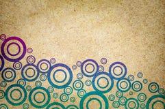 Art color circle on grunge brown background. Art color circle on grunge brown illustration background vector illustration