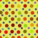 Art color dots generated seamless texture Stock Images