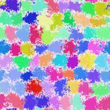 Art color dots generated seamless texture Royalty Free Stock Images