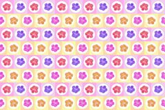 Art color flower seamless abstract pattern background Royalty Free Stock Images