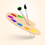 Art color palette Royalty Free Stock Photo