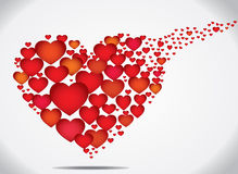 Art of colorful flying hearts love concept Royalty Free Stock Photo