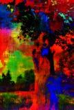Art Colorful Landscape abstracto Foto de archivo