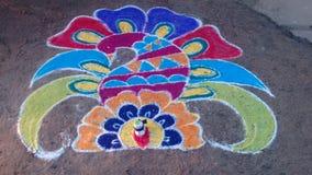 Art. Colorful Rangoli art Royalty Free Stock Photos