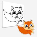 Art Coloring-boekeekhoorn Vector illustratie Stock Afbeeldingen