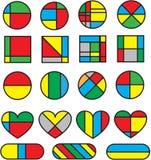 Art Colourful Shapes Vector geométrico abstracto stock de ilustración